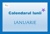 January Calendar 2019 in Romanian Language