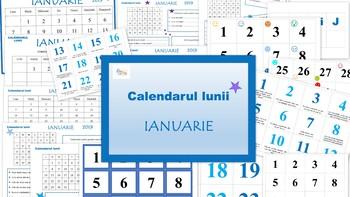 Calendarul lunii Ianuarie in limba Romana