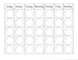 January Calendar Blank   (Snowballs)