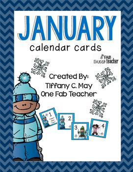 January Calendar Cards!