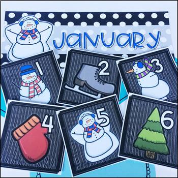 January Calendar Cards