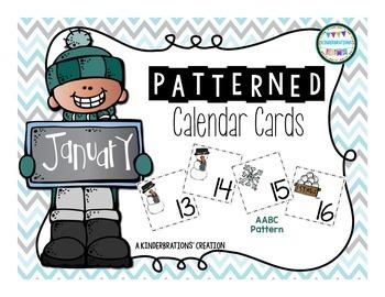 January Calendar Cards- Melonheadz Style