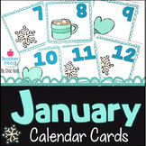 January Calendar Cards *snowflake* *mitten* *mug* {Morning Math} Number Corner