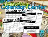 January Calendar Center Task Cards
