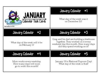 January Calendar Center