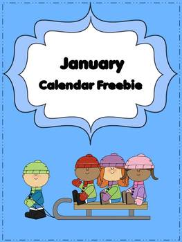 January Calendar Freebie with Task Cards & Writing Activity