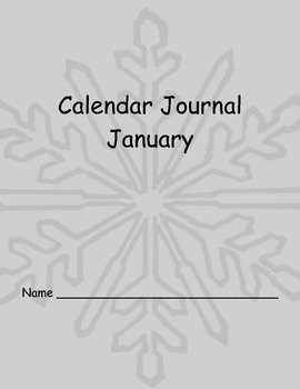 January Calendar Journal