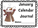 January Calendar Journal (Integrates math and literacy!)