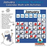 Calendar Number Cards for January | Calendar Math and Activities