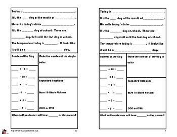 January Calendar Math Booklet - FREE