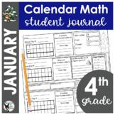 January Calendar Math Student Journal- 4th Grade Edition