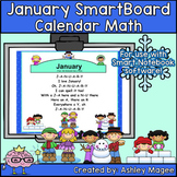 January Calendar Math/Morning Meeting for SMARTBoard