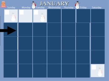 January Calendar - Mimio - Kindergarten / PreSchool