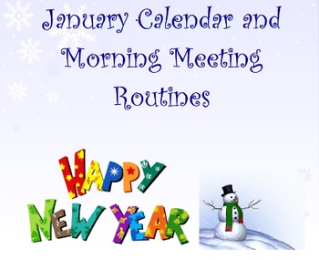 January Calendar & Morning Meeting Routines for Smartboard