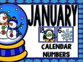 January Calendar Numbers