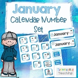 January Calendar Number Cards Set