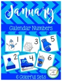 January Calendar Numbers (6 sets)
