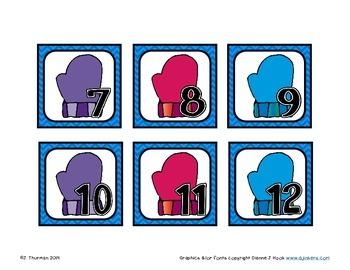 January Calendar Numbers ABC Pattern