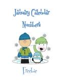 January Calendar Numbers: ABC Pattern ~ FREE