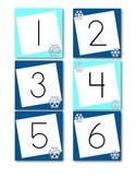 January Calendar Numbers (Winter Themed)