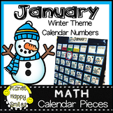 January Calendar Numbers or Math Station Number Cards