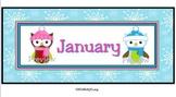 January Calendar Owls