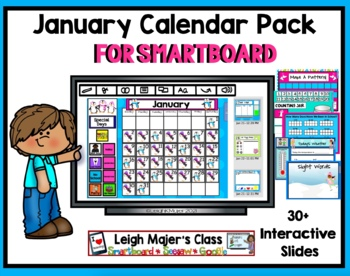 2018 January Math and Calendar Pack for Smartboard