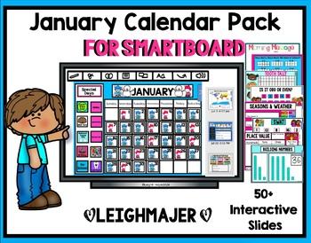 Kids 2020 January Calendar 2020 January Calendar and Math Pack for Smartboard by Smart Kinder