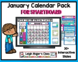 2020 January Calendar and Math Pack for Smartboard