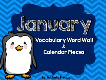 January Calendar Parts & Winter Word Wall