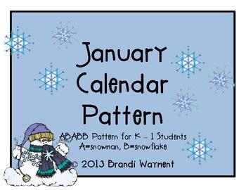 January Calendar Pattern