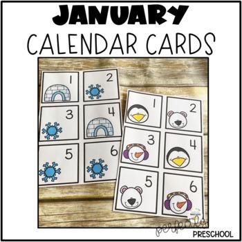 January {Winter} Calendar Cards