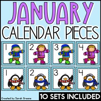 January Calendar Pieces!