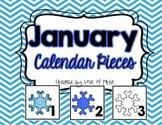January Calendar Pieces-FREEBIE