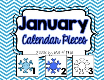 January Calendar Pieces-FREEBIE