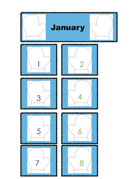 January Calendar Pieces