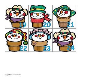 January Calendar Pieces, Activities & Worksheets (math)