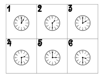 January Calendar Pieces (Hour/Half Hour)