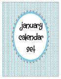 January Calendar Pieces Set