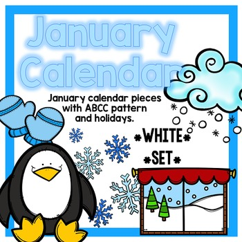 January Calendar Pieces - White Set