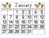 January Calendar Practice