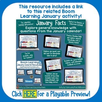 January Calendar Questions