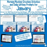 January Morning Meeting Greeting Activities and Daily Writ