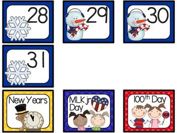 January Calendar Set-Polka Dots