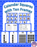 January Calendar Square Set With Ten Frames That Encourage Math Talk