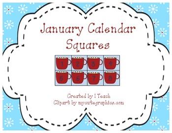 January Calendar Squares