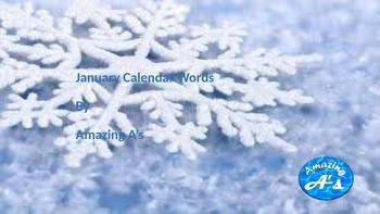 January Calendar Words