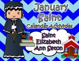 January Catholic Saint Calendar Activities - Saint Elizabeth Ann Seton
