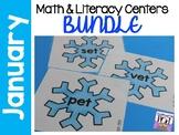 Winter Math and Literacy Center Activities BUNDLE!