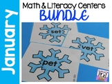Winter Math and Literacy Center Activities BUNDLE!